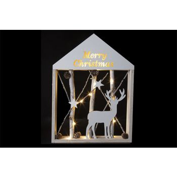 Cosy @ Home Frame Branches M.christmasled Wh 30x41cm