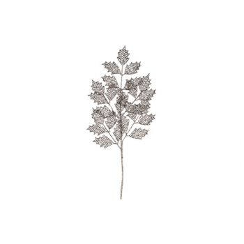 Cosy @ Home Glitter Branch Holly H63cm Silver