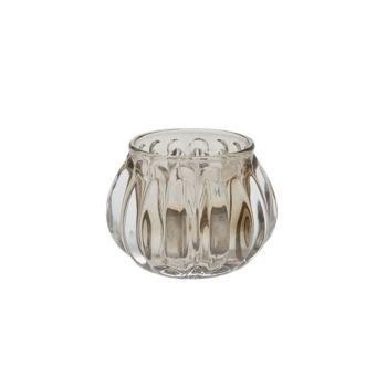 Cosy @ Home T-lighth Rome Glass L.green 7.4x7.4x5cm