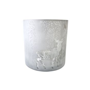 Cosy @ Home T-lighth Cerf In Wood Silver D24x24cm