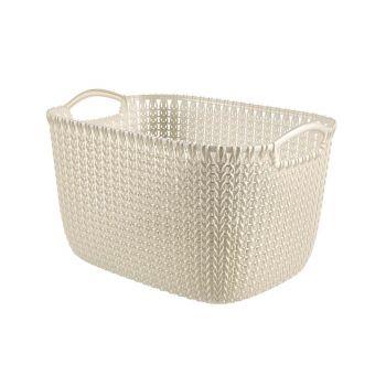 Curver Knit Basket L Rh 19l Oasis White