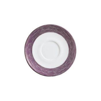 Arcoroc Brush Saucer Mauve 140