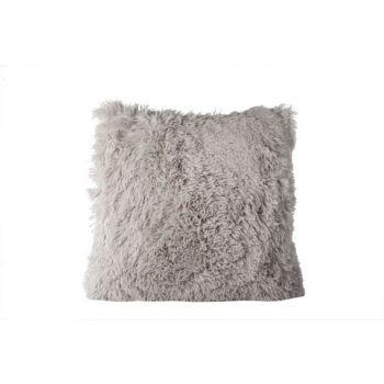 Cosy @ Home Cushion Velvet Plush Gray 45x45cm
