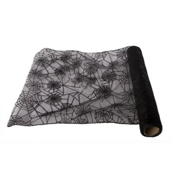 Cosy @ Home Deco Fabric On Roll Web Black 40x200cm