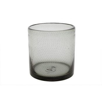 Cosy @ Home Tealightglass Bubble Grey D15xh15.5cm