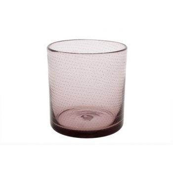 Cosy @ Home Tealightglass Bubble Pink D12xh13cm