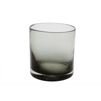 Cosy @ Home Tealightglass Bubble Gray D12xh13cm