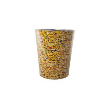 Cosy & Trendy Paperbasket Smiley D22-17xh26cm Metal