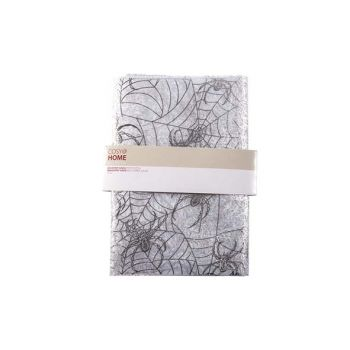 Cosy @ Home Fabric Spiderweb White Silver 1.5x3m