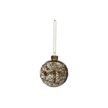 Cosy @ Home Xmas Ball Splash Gold D8cm Unbreakable