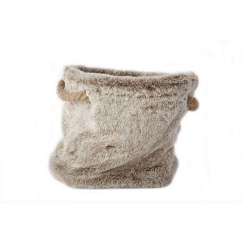 Cosy @ Home Bag Plush Gray Flax String 24x24x20cm