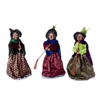 Cosy @ Home Witch Hearts 3 Types Velvet 12x11x35cm