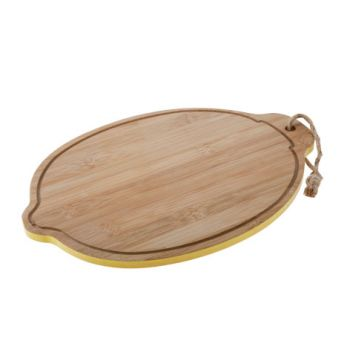 Cosy & Trendy Bamboo Board D35x24x1cm Lemon Shape