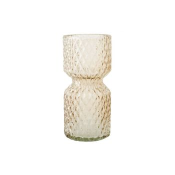 Cosy @ Home Vase Firenze Beige Glass D7xh15cm