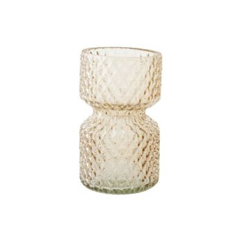Cosy @ Home Vase Firenze Beige Glass D7xh12cm