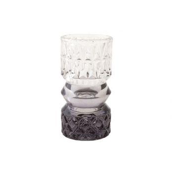 Cosy @ Home Tealightglass Milan Gray D7xh13,5cm