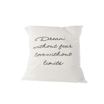 Cosy @ Home Cushion Dream Without Fear White 45x45cm