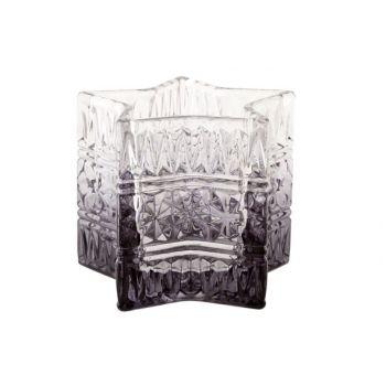 Cosy @ Home Star Tealightglass Degrade Grey D10xh8cm