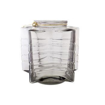 Cosy @ Home Star Lantern Gray Glass D18xh17,5cm