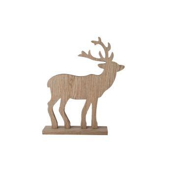 Cosy @ Home Deer Wood Natural 34x7x41.5cm