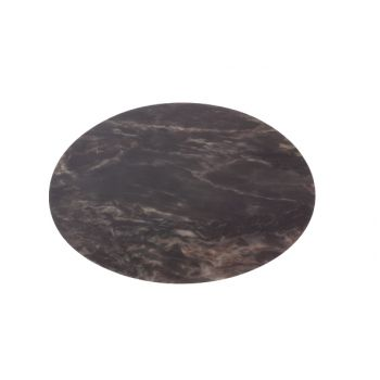 Cosy & Trendy Table Mat Marble Look Black Round 38cm