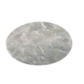 Cosy & Trendy Table Mat Marble Look Grey Round 38cm
