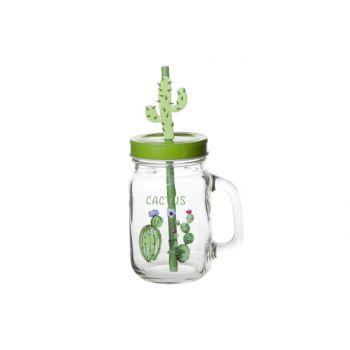 Cosy & Trendy Cactus Jar With Handle D7xh13cm Black