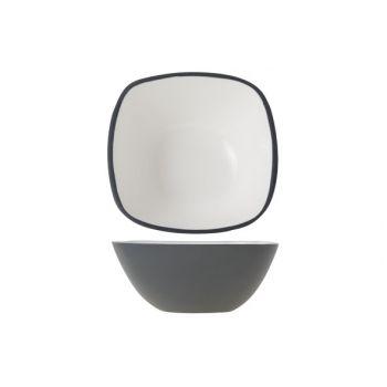 Cosy & Trendy Alu Bowl 12.5xh5cm  White Enamel Grey