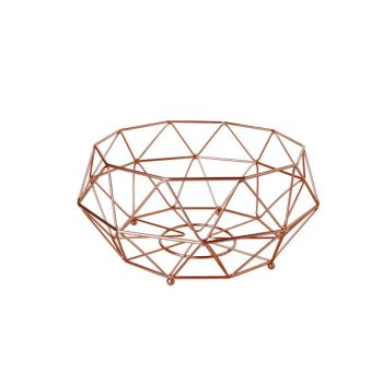 Cosy & Trendy Fruit Basket Copper Plated D32xh15cm