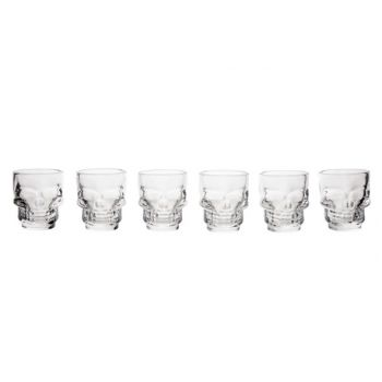 Cosy & Trendy Skull Shot Glass Tiki D5x5,8cm Set6 4cl