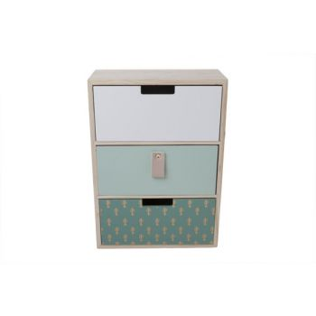 Cosy @ Home Commode Cactus Wood Green 21.5x10x30cm