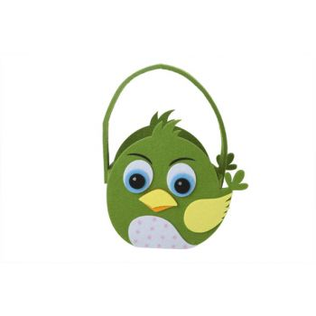 Cosy @ Home Easterbasket Chicken Green 19x9xh18cm