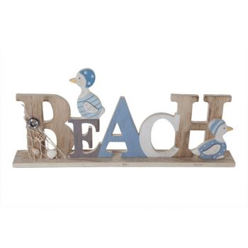 Cosy @ Home Beach Letter Deco Blue Wood 40x5xh17cm