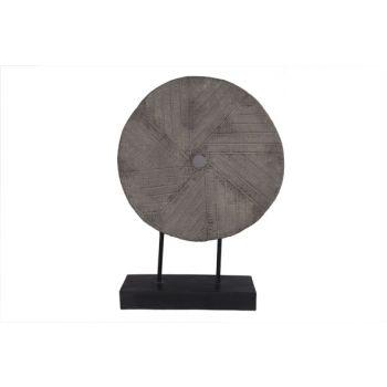 Cosy @ Home Millstone On Foot Gray 45x15x63cm