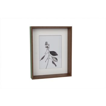 Cosy @ Home Photo Frame Green Wood 21x4x26cm