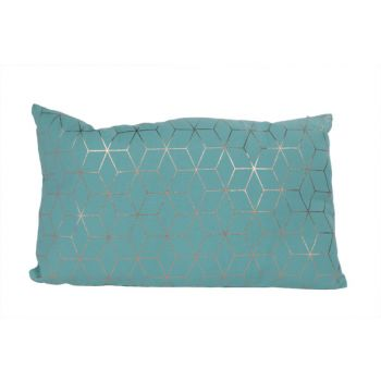 Cosy @ Home Cushion Geometric Gold Turquoise 30x50cm