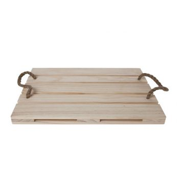 Cosy & Trendy Pallet Serving 38x28x2.5 Wood - Rope