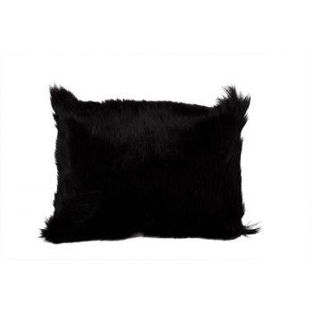 Cosy @ Home Cushion Goat Fur Black 30x40cm