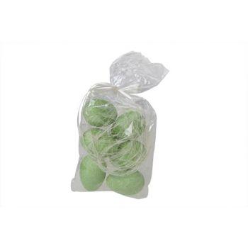 Cosy @ Home Easter Egg Glit Set6 Green 6cm Polybag