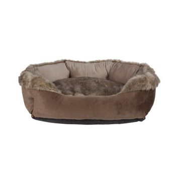 Cosy & Trendy Oblong Bolster Bed Brown 70x60x25cm