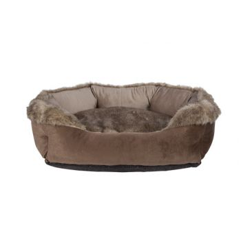 Cosy & Trendy Oblong Bolster Bed Brown 60x50x22cm
