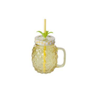 Cosy & Trendy Pine Apple Jar Yellow12x9xh21cm