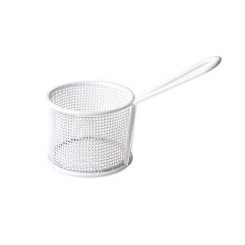 Cosy & Trendy Fry Basket White Plated 9.5xh7.2cm