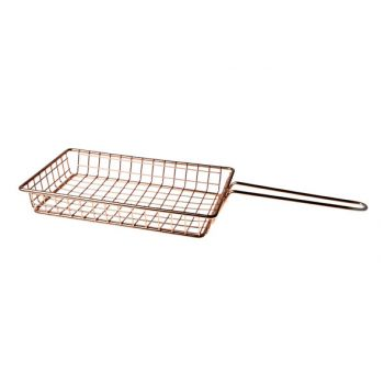 Cosy & Trendy Fry Basket Copper Plated 24.5x15xh4cm