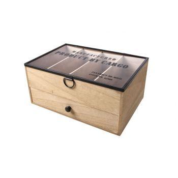 Cosy @ Home Ny Storage Box Nature Wood 28x19xh13cm