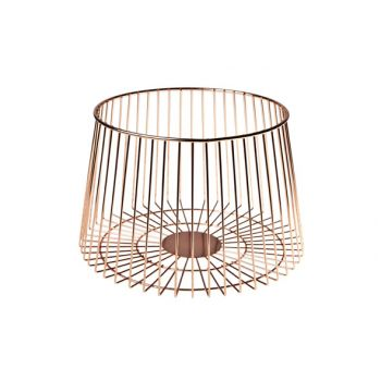 Cosy & Trendy Fruit Basket Copper Plated  D23.5xh15.5c