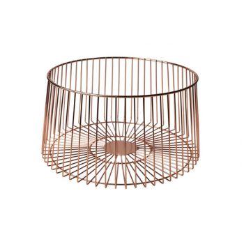 Cosy & Trendy Fruit Basket Copper Plated  D30xh15.5cm