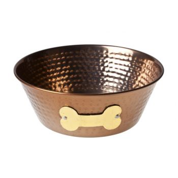 Cosy & Trendy Dogbowl Copper D15xh6cm