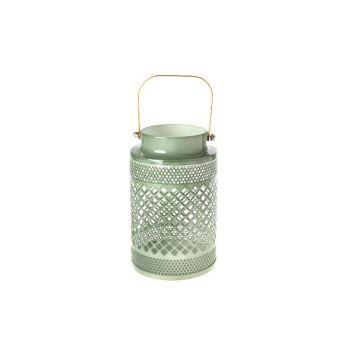 Cosy @ Home Lantern Green Round Metal 10,5x10,5xh16,