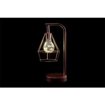 Cosy @ Home Lamp Copper Metal 15,5x12,5xh30,5 Geomet